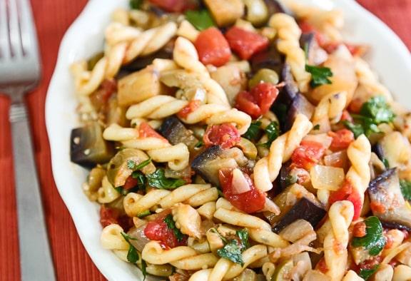 Pasta Eggplant Caponata
