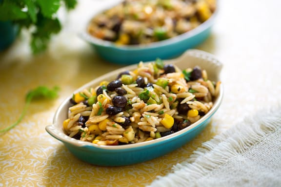 Orzo and blac bean salsa salad recipe