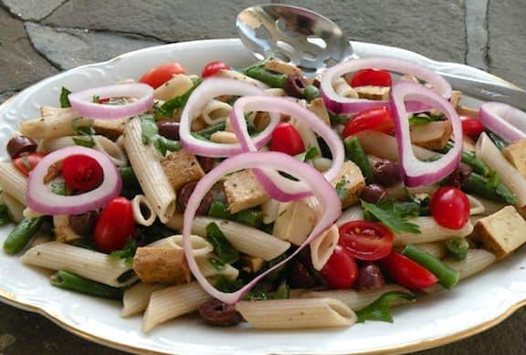 Vegan Pasta Salad Niçoise recipe