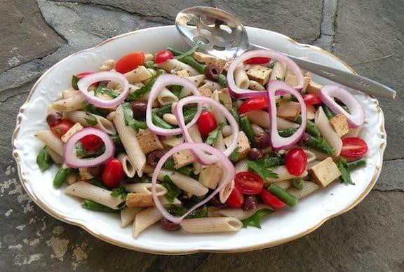 Vegan Pasta Salad Niçoise