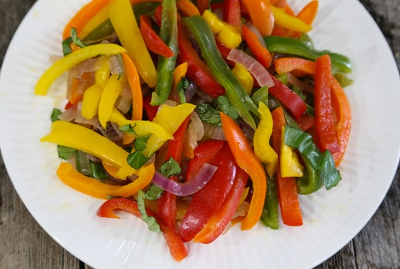 Rainbow Pepper and Red Onion