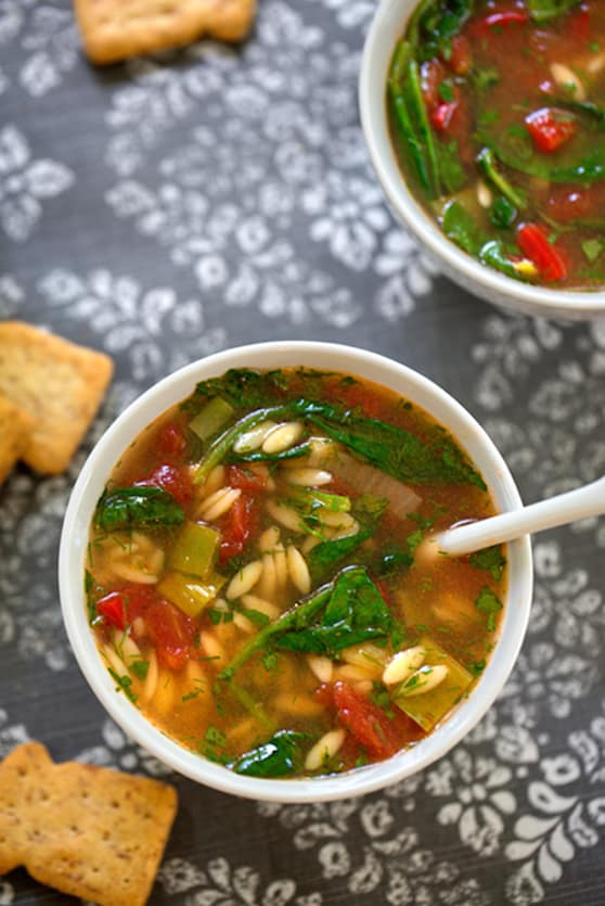 Lemony Spinach and Orzo Soup recipe
