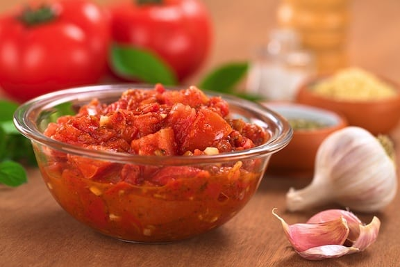 luscious fresh tomato garlic sauce recipe
