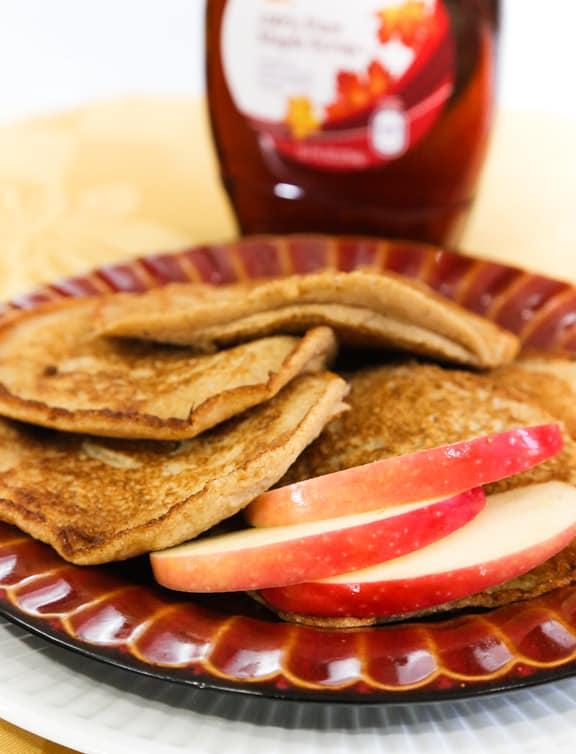 Cinnamon Apple Vegan Pancakes