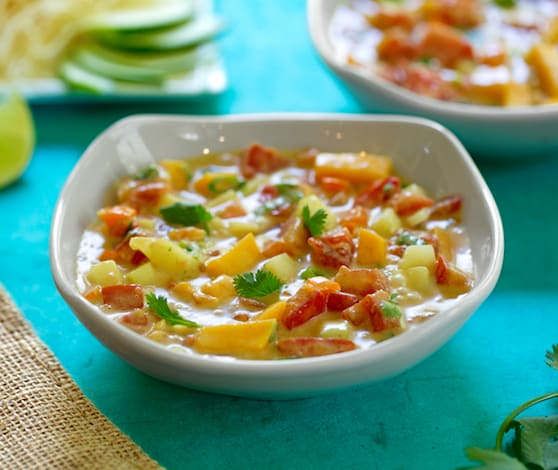Cold tomato mango soup recipe