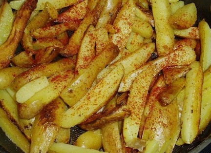 Fingerling potato fries