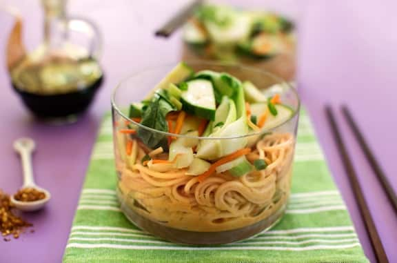 Asian Peanut-Sesame Noodles Recipe