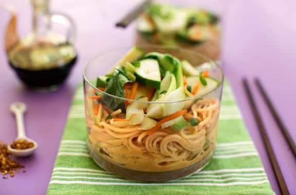 Asian Peanut-Sesame Noodles Recipe