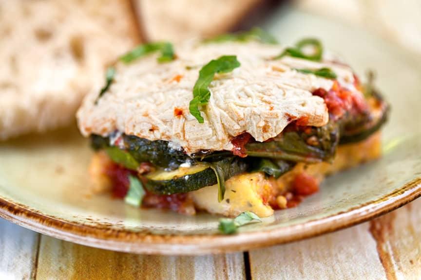Polenta Zucchini casserole