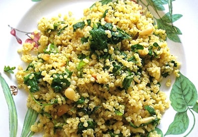 simple kale and quinoa pilaf