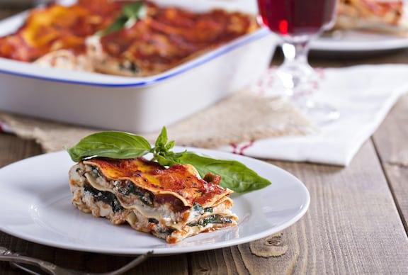 Vegan tofu and vegetable lasagna