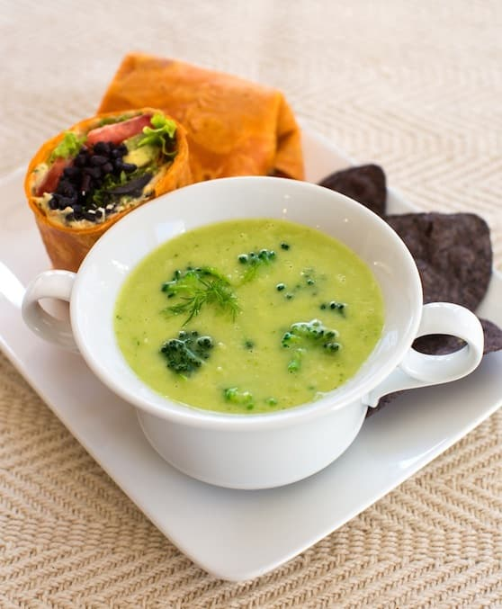 Vegan cream of broccoli soup recipe