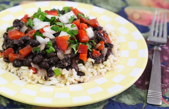 Cuban Inspired Black Beans and Rice recipe