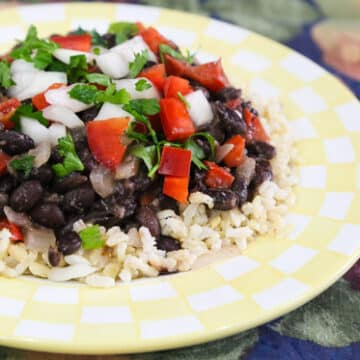 Cuban Inspired Black Beans and Rice