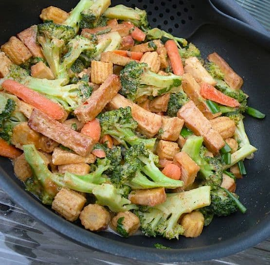 Thai broccoli and tofu with peanut satay sauce recipe