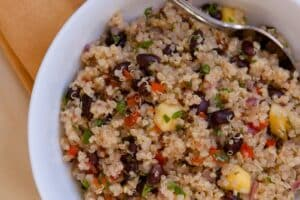 Tropical Quinoa  Black Beans