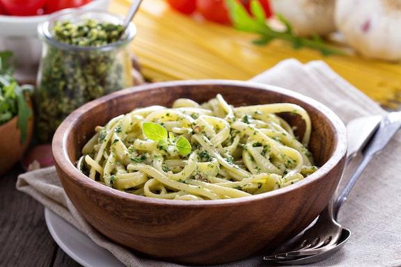Spinach or Arugula and Miso Pesto
