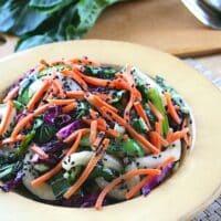 Bok Choy salad with snow peas