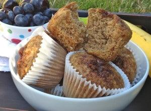 Vegan Coconut banana muffins