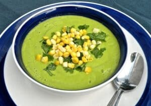 Raw Cucumber-avocado soup