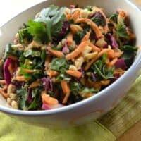 Raw kale and sweet potato salad