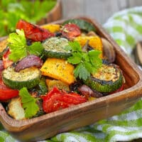 Roasted summer vegetables