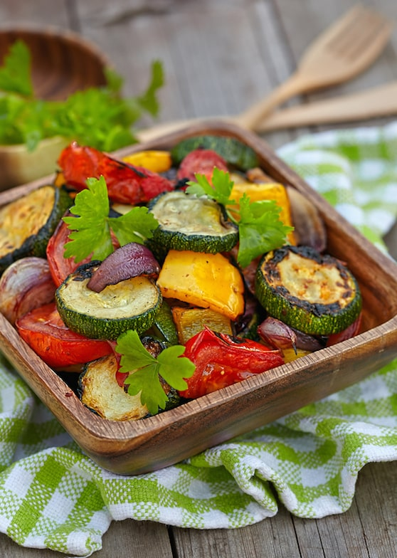 Salad of Roasted summer vegetables