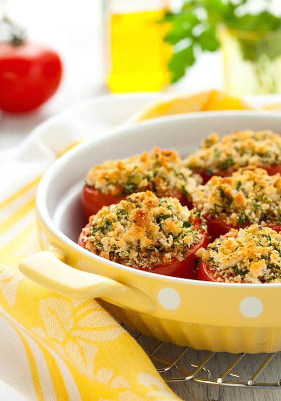 Provençal style baked tomatoes