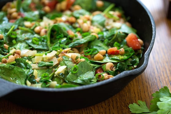 Black-eyed peas wih spinachand herbs (sabzi) recipe