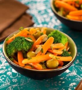 Carrot and broccoli salad
