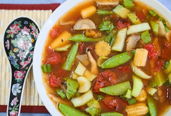 Hot and Sour Vegetable Soup Recipe