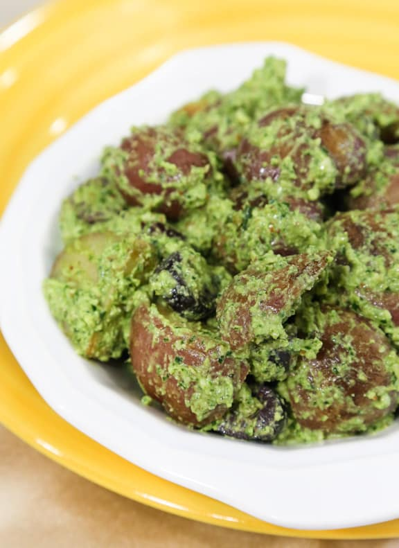 New Potatoes with Parsley-Almond Pesto
