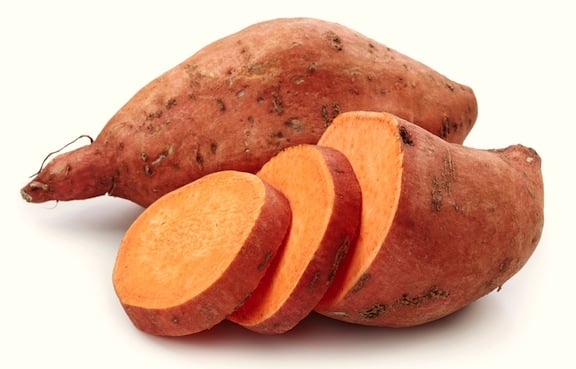 Sweet potato sliced