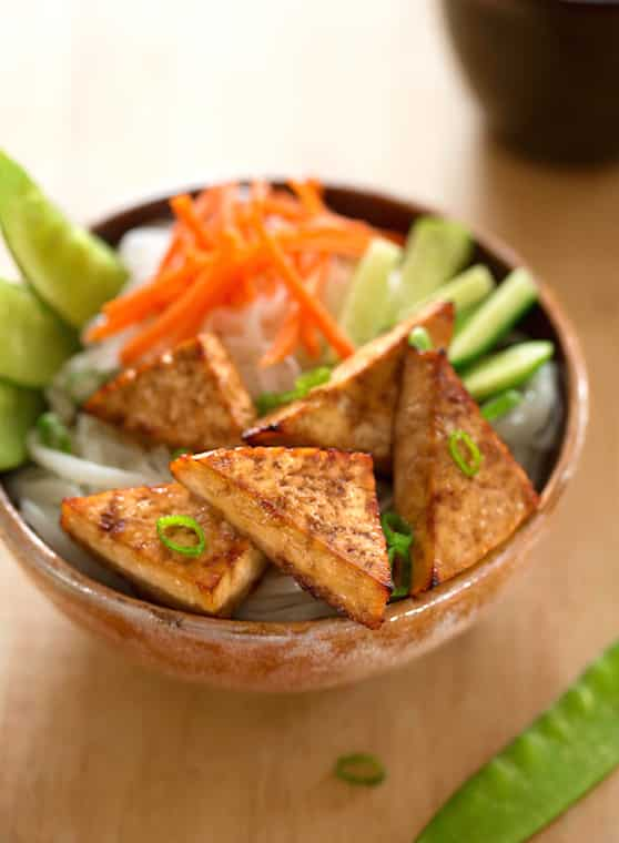 Teriyaki tofu triangles recipe