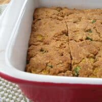 vegan green chile cornbread