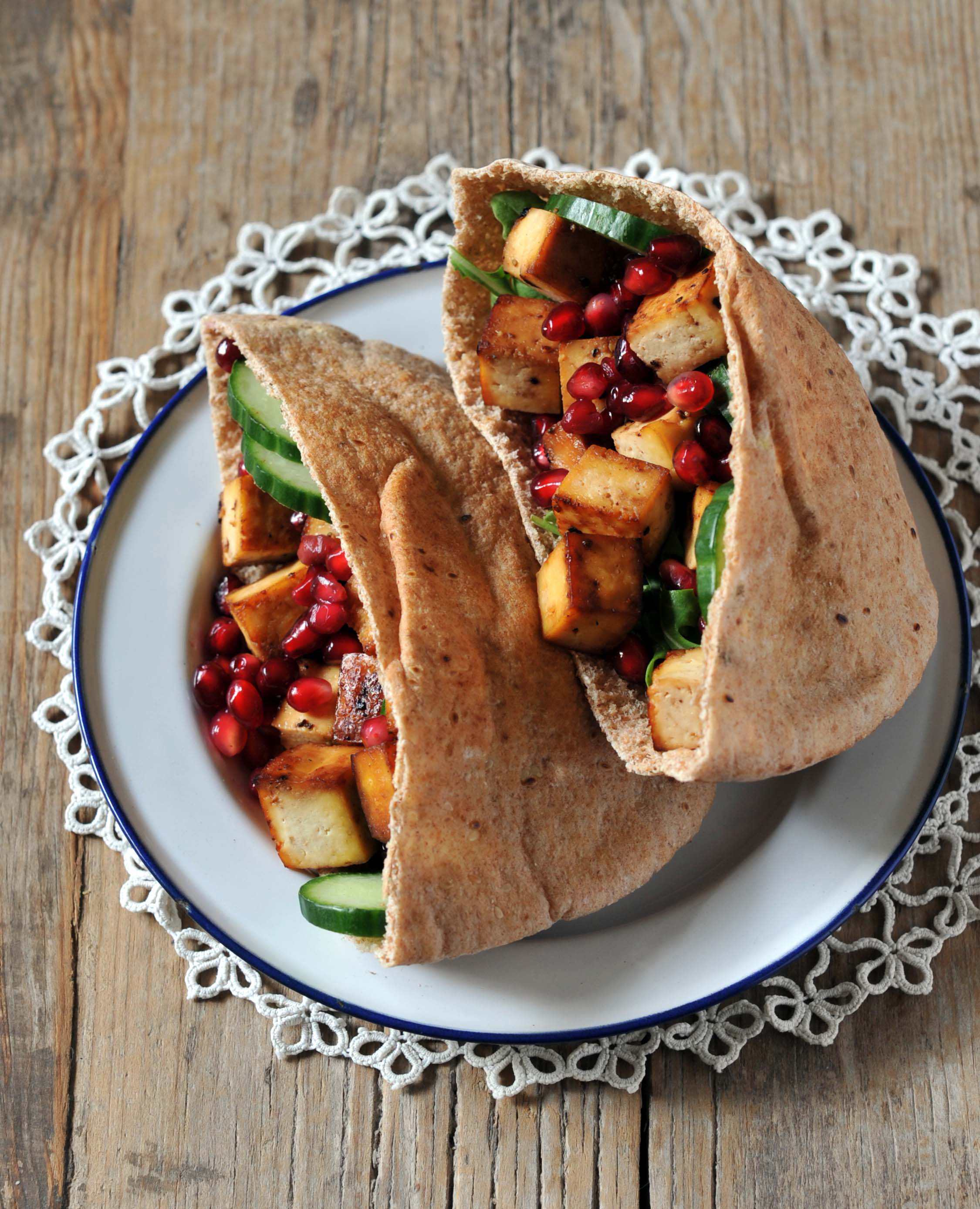 Pomegrante Tofu Pocket