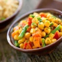 Chana masala - curried chickpeas