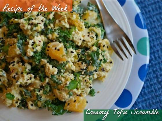 creamy tofu scramble