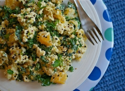 Creamy Tofu Scramble with Kale and Butternut Squash