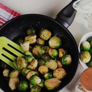 wine-glazed Brussels sprouts