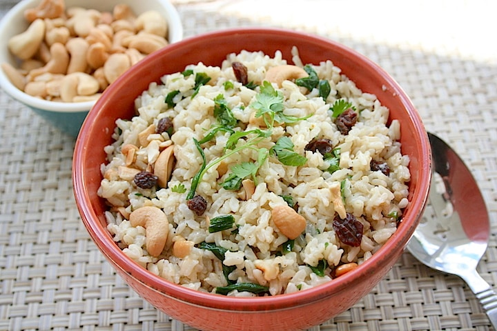Tasty easy brown rice recipes pdf e book vegkitchen cashew basmati rice pilaf forumfinder Image collections