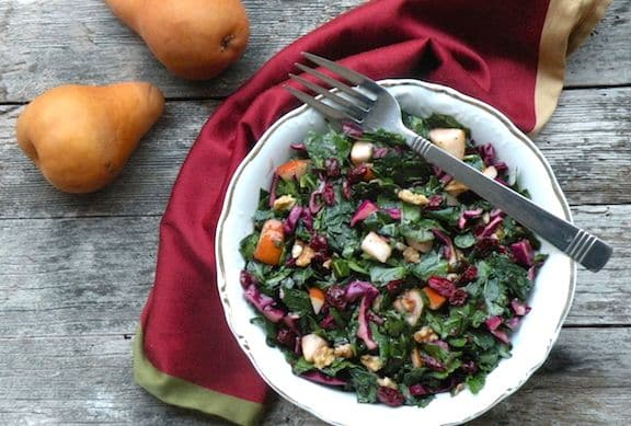 Fruity massaged kale salad