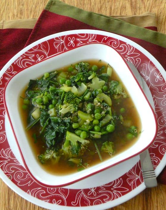 Quick Green Veggie soup recipe