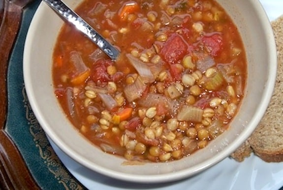 Tomato, Lentil, and Barley Soup