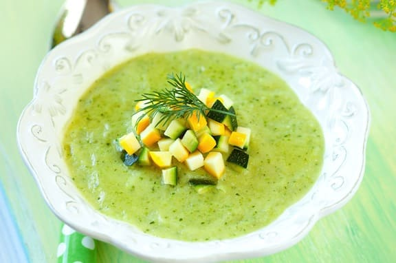 Creamy Zucchini Soup - vegan