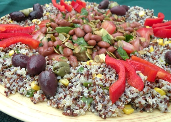 Composed quinoa salad