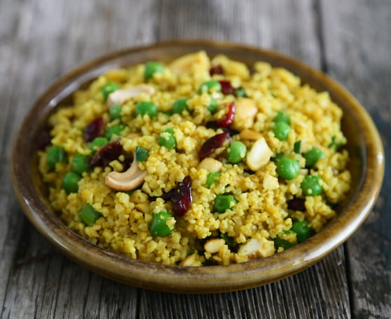Curried cashew couscous recipe