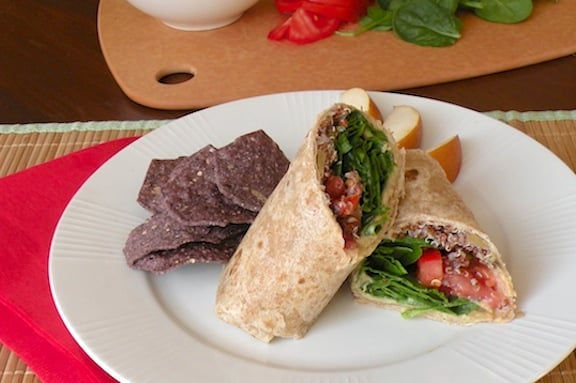 Hummus and quinoa wrap recipe