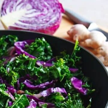 Kale and red cabbage stir-fry recipe