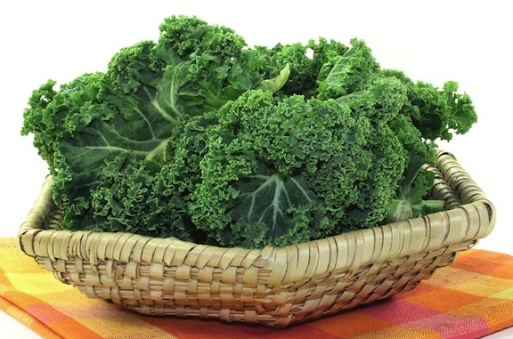 kale in a basket